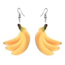 Fako Bijoux® - Oorbellen - Groente & Fruit - Bananen