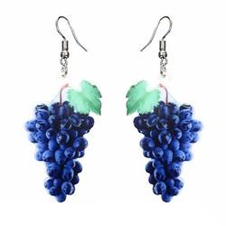 Fako Bijoux® - Oorbellen - Groente & Fruit - Druiven
