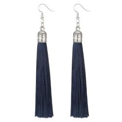 Fako Bijoux® - Oorbellen - Kwast Romania XL - Donkerblauw
