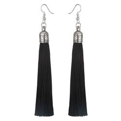 Fako Bijoux® - Oorbellen - Kwast Romania XL - Zwart