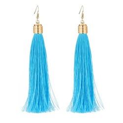 Fako Bijoux® - Oorbellen - Kwast XL - Ibiza - Turquoise