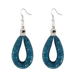 Fako Bijoux® - Oorbellen - Sterrenstof Druppel Mini - Aqua Blauw