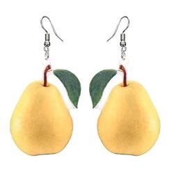 Fako Bijoux® - Oorbellen - Groente & Fruit - Peer