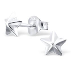 Fako Bijoux® - Kinderoorbellen - 925 Zilver - Ster - 5x5mm - Zilverkleurig