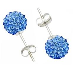 Fako Bijoux® - Oorbellen - Disco Dots - Steker - Blauw