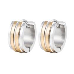 Fako Bijoux® - Oorbellen - Oorringen - RVS - Zilver/Goud Duo