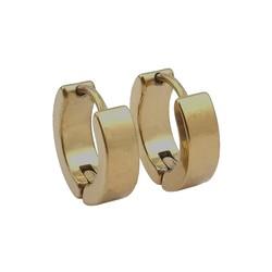 Fako Bijoux® - Oorbellen - Oorringen - Stainless Steel - Classic - Goudkleurig