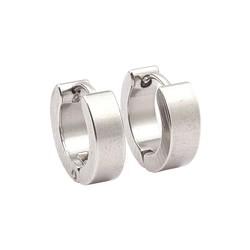 Fako Bijoux® - Oorbellen - Oorringen - Stainless Steel - Classic - Zilverkleurig