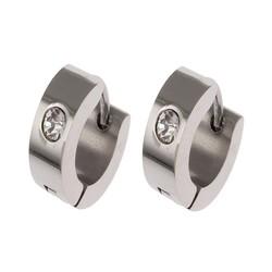 Fako Bijoux® - Oorbellen - Oorringen - RVS - Kristal - Zilverkleurig