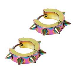 Fako Bijoux® - Oorbellen - Oorringen - RVS - Spikes - Multicolour