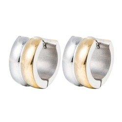 Fako Bijoux® - Oorbellen - Oorringen - Stainless Steel - Duo - Zilverkleurig