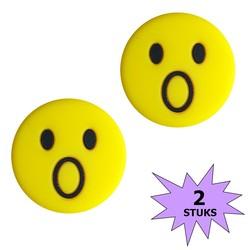 Fako Bijoux® - Tennisdemper - Emoji - Verbaasd - 2 Stuks