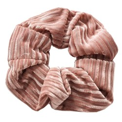 Fako Fashion® - Scrunchie - Haarelastiek - Velvet Duo - Roze