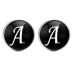 Fako Bijoux® - Manchetknopen - Rond - Ø 18mm - Alfabet - Letter A