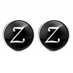 Fako Bijoux® - Manchetknopen - Rond - Ø 18mm - Alfabet - Letter Z