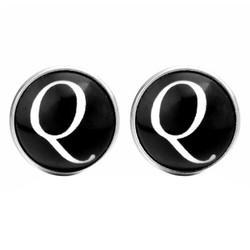 Fako Bijoux® - Manchetknopen - Rond - Ø 18mm - Alfabet - Letter Q