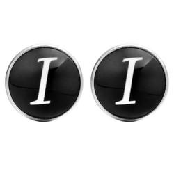 Fako Bijoux® - Manchetknopen - Rond - Ø 18mm - Alfabet - Letter I