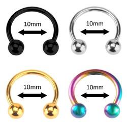 Fako Bijoux® - Circular Barbell Piercing - Hoefijzer 10mm - Set - 4 Stuks