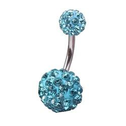 Fako Bijoux® - Navelpiercing - Disco Dots Duo - Turquoise