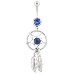 Fako Bijoux® - Navelpiercing - Dreamcatcher - Donkerblauw
