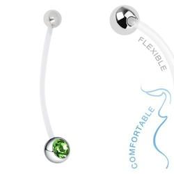 Fako Bijoux® - Zwangerschapspiercing - Kristal - Groen