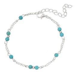 Fako Bijoux® - Enkelbandje - Turquoise