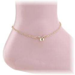 Fako Bijoux® - Enkelbandje - Vlinder - Goudkleurig