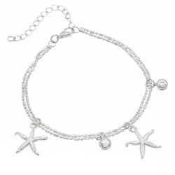Fako Bijoux® - Enkelbandje - Zeester - Zilverkleurig