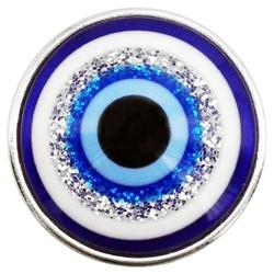 Fako Bijoux® - Click Button - Turks Oog Glitter