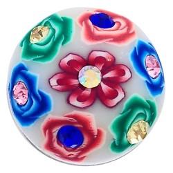 Fako Bijoux® - Click Button - Fimoklei - Bloemen Multi