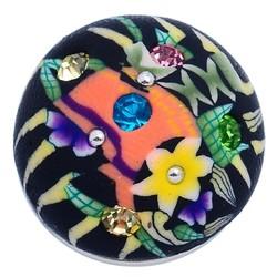 Fako Bijoux® - Click Button - Fimoklei - Zwart