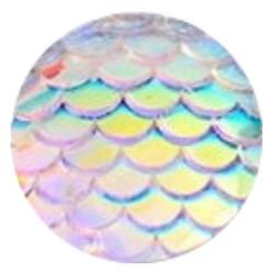 Fako Bijoux® - Click Button - Schubben - Wit