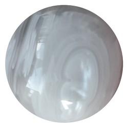 Fako Bijoux® - Click Button - Marmer - Wit/Grijs