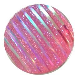 Fako Bijoux® - Click Button - Glitter Streep - Roze