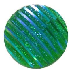 Fako Bijoux® - Click Button - Glitter Streep - Groen