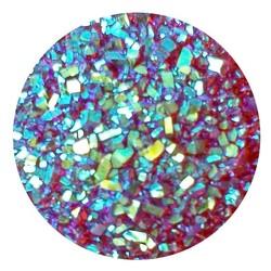 Fako Bijoux® - Click Button - Glitter - Rood
