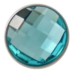 Fako Bijoux® - Click Button - Geslepen - Turquoise