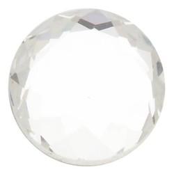 Fako Bijoux® - Click Button - Glas Geslepen - Wit