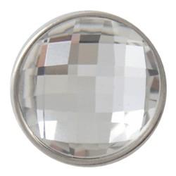 Fako Bijoux® - Click Button - Geslepen - Wit