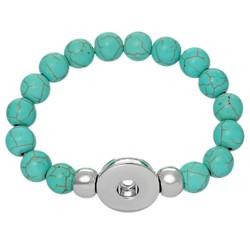 Fako Bijoux® - Armband Voor Click Buttons - Kralen - Turquoise
