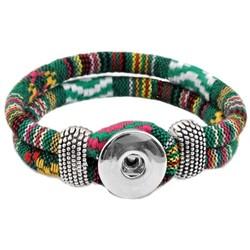 Fako Bijoux® - Armband Voor Click Buttons - Inka - Groen