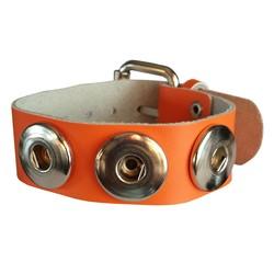 Fako Bijoux® - Armband Voor Click Buttons - Fluor - Oranje