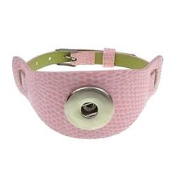 Fako Bijoux® - Armband Voor Click Buttons - Breed Kids - Roze