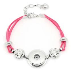 Fako Bijoux® - Armband Voor Click Buttons - Suède - Roze