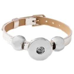 Fako Bijoux® - Armband Voor Click Buttons - Basic - Zilver