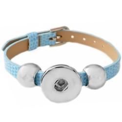 Fako Bijoux® - Armband Voor Click Buttons - Basic - Lichtblauw