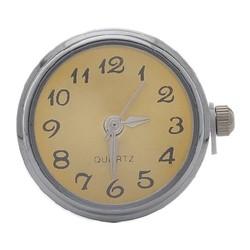 Fako Bijoux® - Click Button Horloge - Champagne