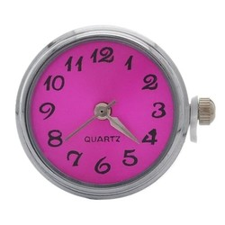 Fako Bijoux® - Click Button Horloge - Fuchsia