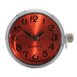 Fako Bijoux® - Click Button Horloge - Oranje