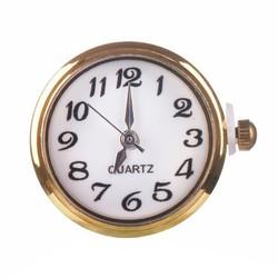 Fako Bijoux® - Click Button Horloge - Goud/Wit